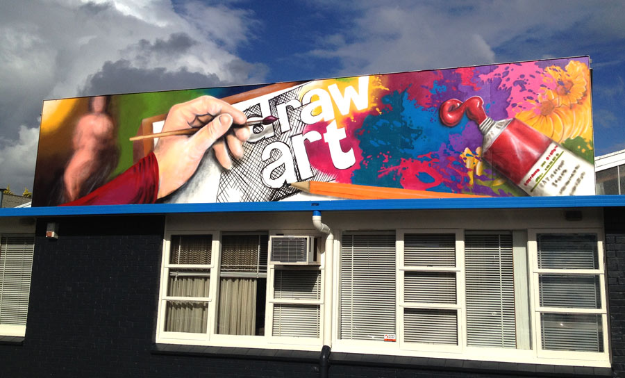 Mural and chalkboard artist for hire auckland new zealand for Commercial mural painting